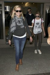 Reese Witherspoon - at LAX Airport 6/10/13