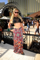 Paris Hilton - At the Mandalay Bay Beach Club in Vegas 6/8/13