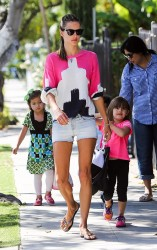 Alessandra Ambrosio - out in Santa Monica 6/11/13