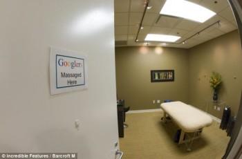 Jika lelah, para karyawan boleh menikmati pijat di tempat pemijatan di area kantor Google ini / Incredible Features