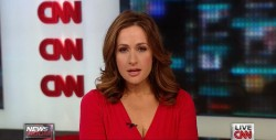 ALISON KOSIK cleavage, legs - cnn - may 12, 2013