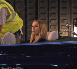 Kristen Bell - on the set of Veronica Mars the movie in LA 6/17/13