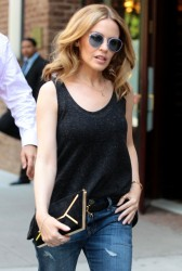 Kylie Minogue - out in NYC 6/20/13
