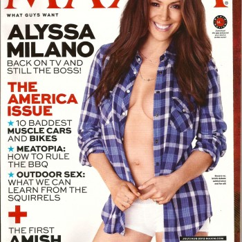 "Alyssa Milano ""Maxim"" (US) July/August, 2013"
