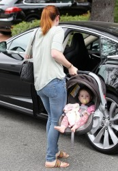 Alyson Hannigan - out in Santa Monica 6/24/13