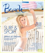 Ireland Baldwin - Modern Luxury Beach magazine July 2013