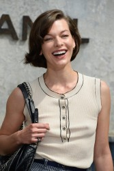 Milla Jovovich - Chanel fashion show in London 7/2/13
