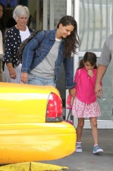 Katie Holmes - at JFK Airport in NYC 7/2/13