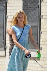 Candice Swanepoel - out in NYC 7/6/13