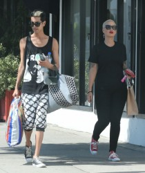 Amber Rose - Shopping in Hollywood 7/7/13