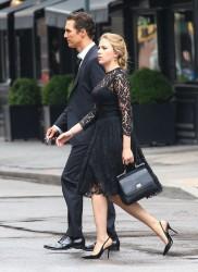 Scarlett Johansson Dolce & Gabbana commercial set candids in New York ...