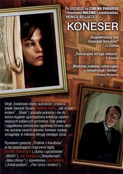 Tył ulotki filmu 'Koneser'
