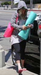 Kaley Cuoco - heads to yoga class in LA 8/6/13