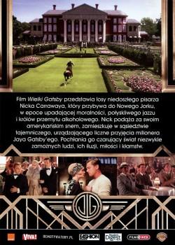Tył ulotki filmu 'Wielki Gatsby'