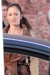 Minka Kelly - on the set of 'Almost Human' in Vancouver 8/6/13