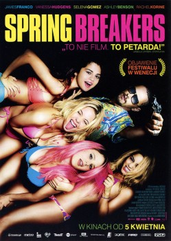 Przód ulotki filmu 'Spring Breakers'