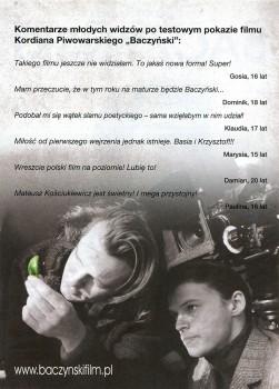 Tył ulotki filmu 'Baczyński'