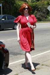 Christina Hendricks - at a party in LA 8/11/13