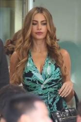 Sofia Vergara - on the set of 'Chef' in Miami 8/12/13