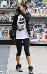 Vanessa & Stella Hudgens - at SoulCycle in Beverly Hills 8/19/13
