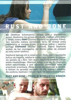 Tył ulotki filmu 'Rust And Bone'