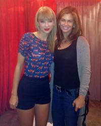 Taylor Swift & Kathy Ireland - backstage of Taylor's RED Tour in L.A. 8/19/13
