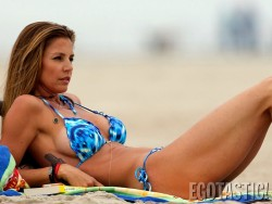 Charisma Carpenter - wearing a bikini in Malibu 8/22/13