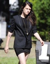 Kristen Stewart - on the set of 'Sils Maria' in Berlin 8/26/13