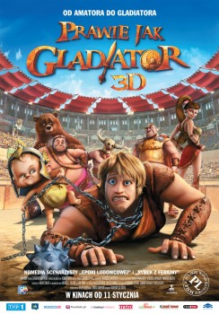 Polski plakat filmu 'Prawie Jak Gladiator'