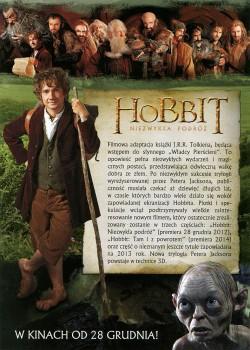 Tył ulotki filmu 'Hobbit: Niezwykła Podróż'