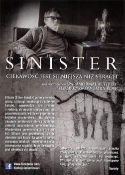 Tył ulotki filmu 'Sinister'