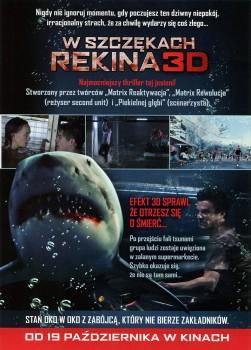 Tył ulotki filmu 'W Szczękach Rekina'