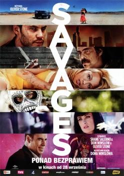 Przód ulotki filmu 'Savages: Ponad Bezprawiem'