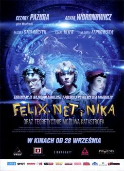 Przód ulotki filmu 'Felix, Net i Nika Oraz Teoretycznie Możliwa Katastrofa'