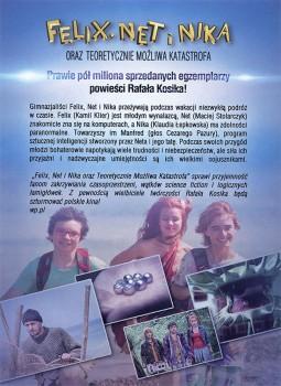 Tył ulotki filmu 'Felix, Net i Nika Oraz Teoretycznie Możliwa Katastrofa'