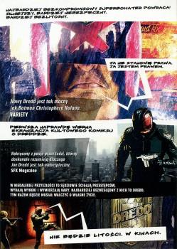 Tył ulotki filmu 'Dredd'