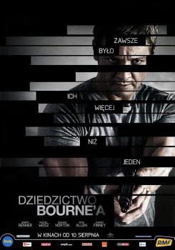 Przód ulotki filmu 'Dziedzictwo Bourne'a'