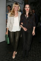 Beth Behrs & Kat Dennings - leaving the Chateau Marmont in Hollywood 9/4/13