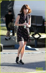 Alexis Bledel - on the set of 'Us & Them' in NYC 9/5/14