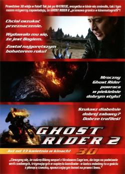 Tył ulotki filmu 'Ghost Rider 2'