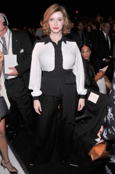 Christina Hendricks - Carolina Herrera fashion show in NYC 9/9/13