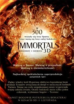 Tył ulotki filmu 'Immortals. Bogowie i Herosi'