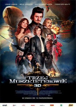 Przód ulotki filmu 'Trzej Muszkieterowie'