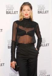 Sheer blouse & Black trouser