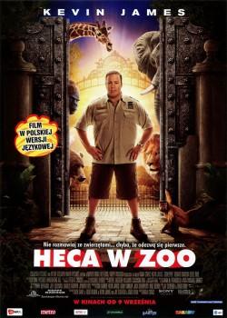 Przód ulotki filmu 'Heca W Zoo'