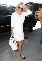 Pamela Anderson - At LAX Airport 9/23/13