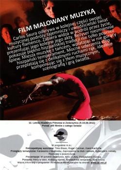 Tył ulotki filmu 'Flamenco, Flamenco'