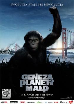 Przód ulotki filmu 'Geneza Planety Małp'