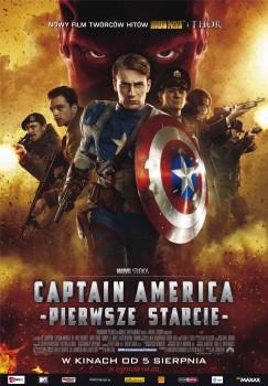 Polski plakat filmu 'Captain America: Pierwsze Starcie'