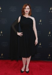 Christina Hendricks - Johnnie Walker Platinum Launch in NYC 10/2/13